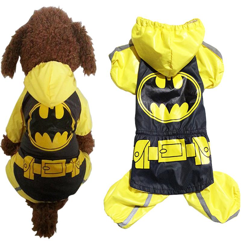 PETSOO Newly Pet Dog Raincoat Waterproof Hoody Clothes Yellow Puppy Coat Jacket Breathable Rain Clothing Dog Apparel PTS140(China (Mainland))