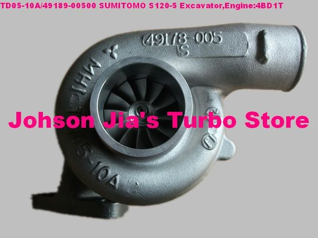 TD05 10A 49189-00500 Turbocharger for SUMITOMO S120-5 Excavator Engine:4BD1T