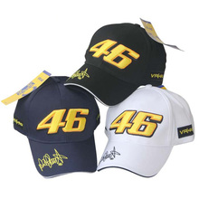 2016 New Design F1 Racing Cap Car Motocycle Racing MOTO GP VR 46 Rossi Embroidery Sport Hiphop Cotton Trucker Baseball Cap Hat