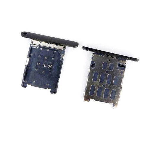 Черный SIM карты держатель лотка слот замена частей для NOKIA LUMIA 720