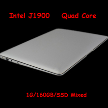 14 inch laptop computer pc with 1GB ram & 160GB HDD Celeron J1900 Quad core 2Ghz USB 3.0 WIFI HDMI slivery color(China (Mainland))