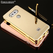 Buy EDWO For LG G2 G3 G4 G5 K7 K8 V20 Luxury Hard Ultra Light Thin Phone Case Plating Acrylic Mirror Back Cover Metal Aluminum Frame for $5.99 in AliExpress store
