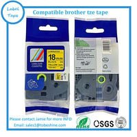 Compatible brother label tape tze tz tape Tze641 tz641 tze 641 18mm*8m black on yellow Tze-641 tz 641 P-touch Ribbon label maker