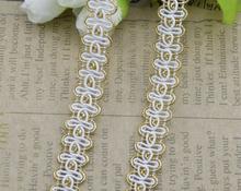 Wavy white lace belt hook line lace nylon filament gold lace 20meters(China (Mainland))