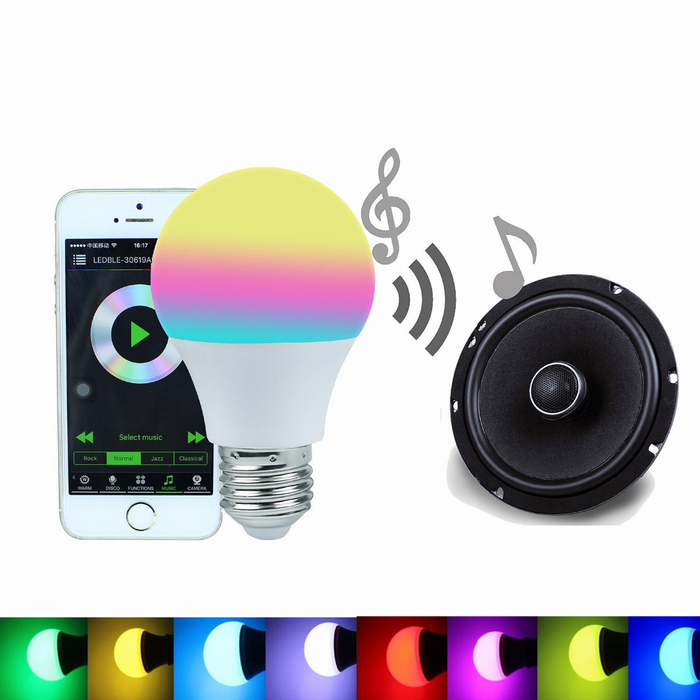 Bluetooth Smart Led Light Bulb 4 5w Rgbw 4 0 Smartphone
