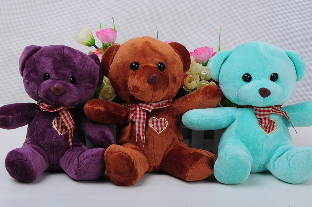 Stuffed & Plush Animals Genuine Two Size teddy bear plush toys Children Ai Taidi Scarf Scarf Bear Teddy Bear Gift Plush dolls(China (Mainland))