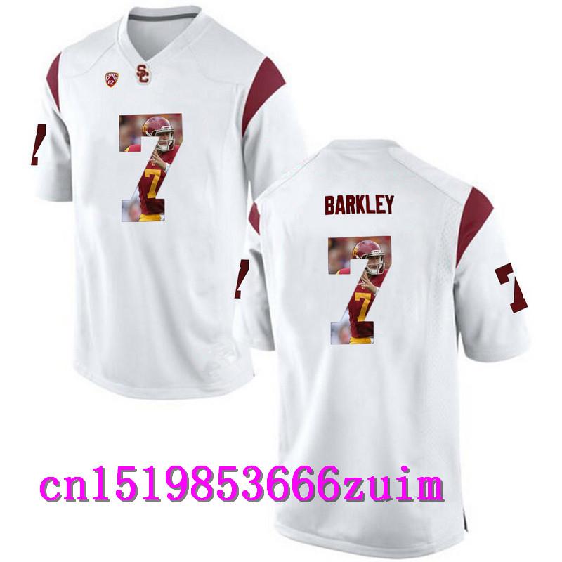 2017 USC Trojans Matt Barkley 7 College Basketball Limited Jerseys - Apple Green Size S,M,L,XL,2XL,3XL(China (Mainland))
