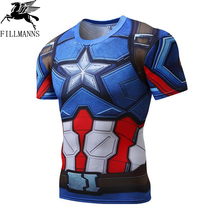 Buy 3D Printed T-shirts Men Compression Shirt Men's crossfit Tshirt Short Sleeve Quick dry Workout Bodybuilding Fitness Tops T shirt for $9.72 in AliExpress store