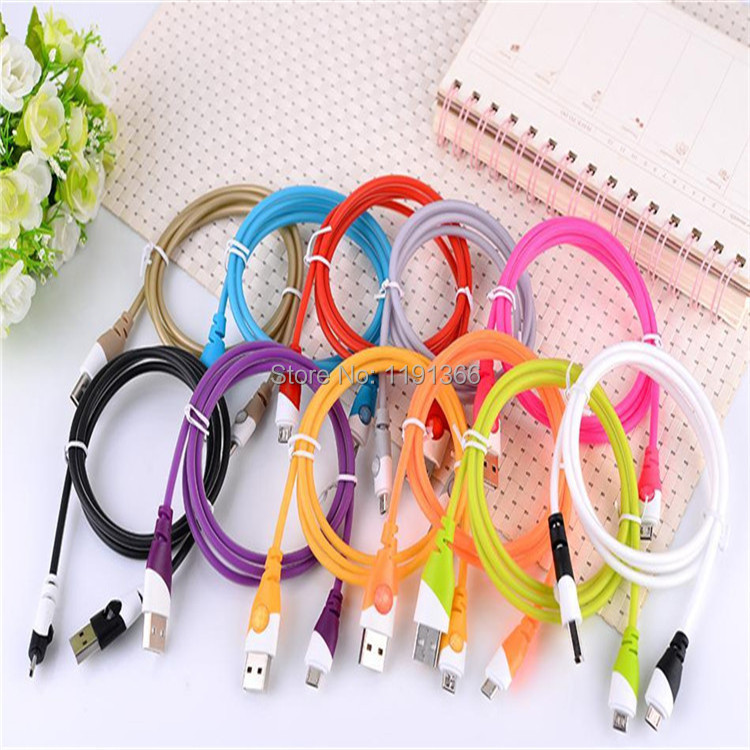 New Design Colorful Diamond Wire for Samsung Galaxy S3 s4 Micro USB Date Sync Charging Charger Cable Cords Adapter(China (Mainland))