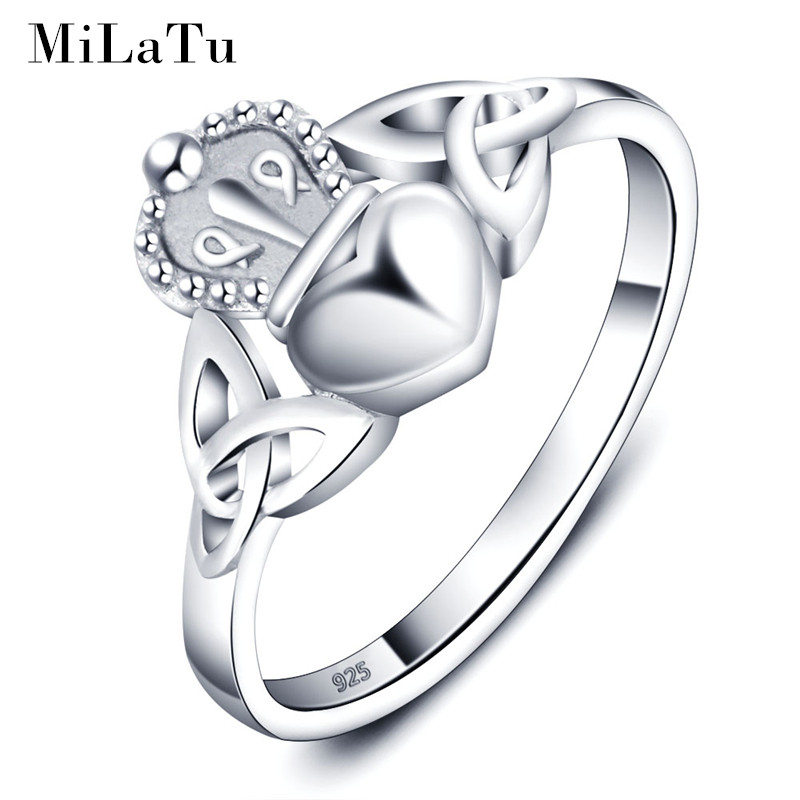 get cheap sterling silver claddagh ring aliexpress