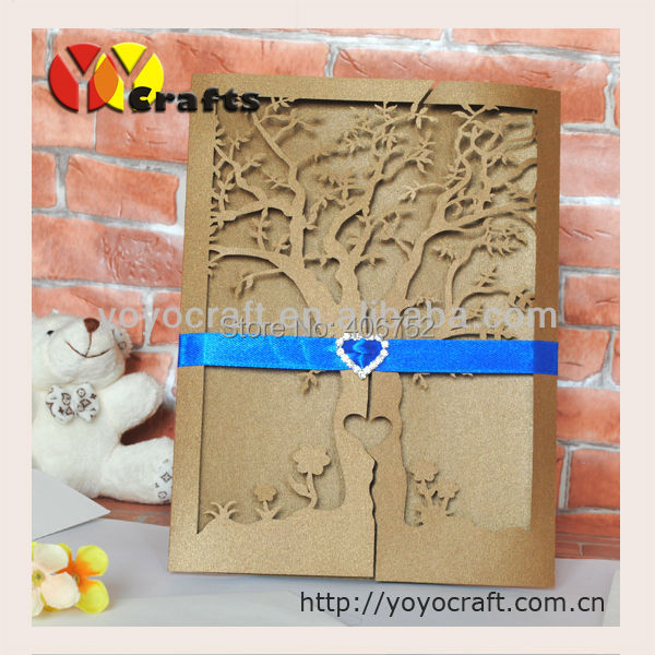 laser cut holiday supplies wedding favors envelope,insert and seal RSVP wedding invitation card(China (Mainland))