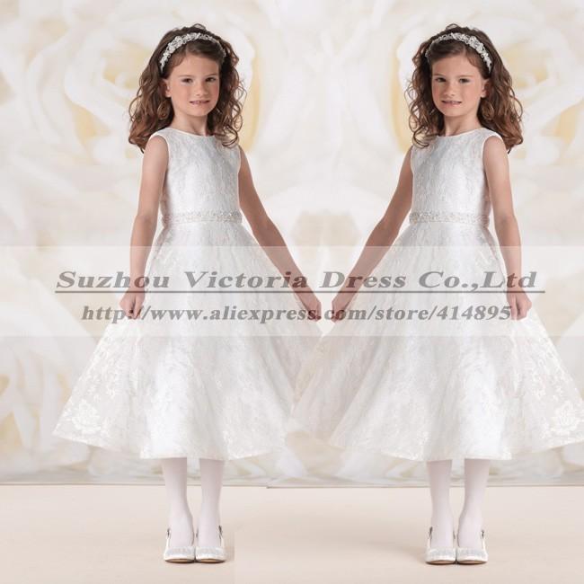 Vestidos де Comunion первое причастие платья для девочек 2014 первое причастие платья линия кружева святое причастие платье