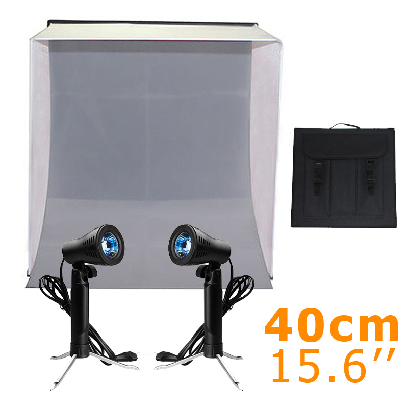 Inno 40CM Photo Studio Portable Softbox Light Tent Cube Soft Box with four colors of backdrop with Studio Table Top Photo Light <br>