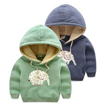 2015 new fashion thicken t boys hoodies and sweatshirts baby girls children hoody winter hoodie warm boy pullover kids clothes(China (Mainland))
