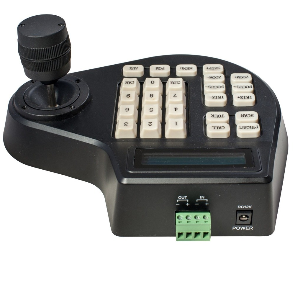 CCTV 3 Axis LCD Display Keyboard Controller Joystick for PTZ camera(China (Mainland))