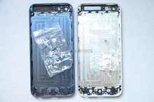 Factory Wholesale Back Cover Housing Door Case for iPhone 5 5G Black White DHL Free Shipping 10PCS/Lot