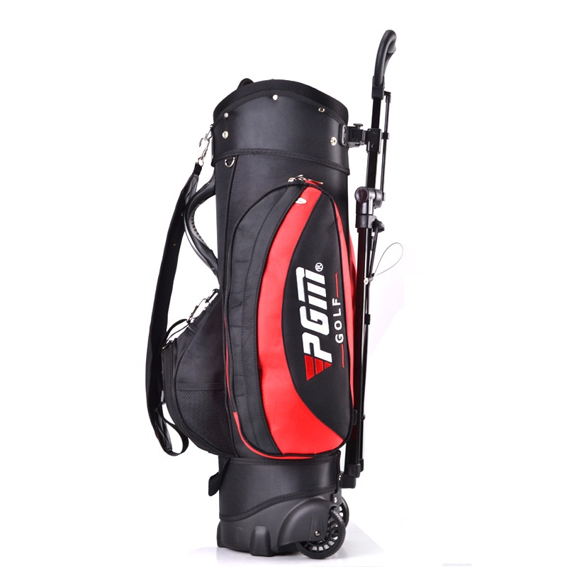 Free Shipping Highquality Golf bag with trolly Golf bag with stand Multifunction Caddie Bag(China (Mainland))