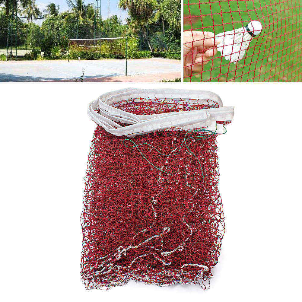 High Quality 1pcs Professional 600x60cm Volleyball Badminton Net Red-brown For Indoor Outdoor Ground Sport(China (Mainland))
