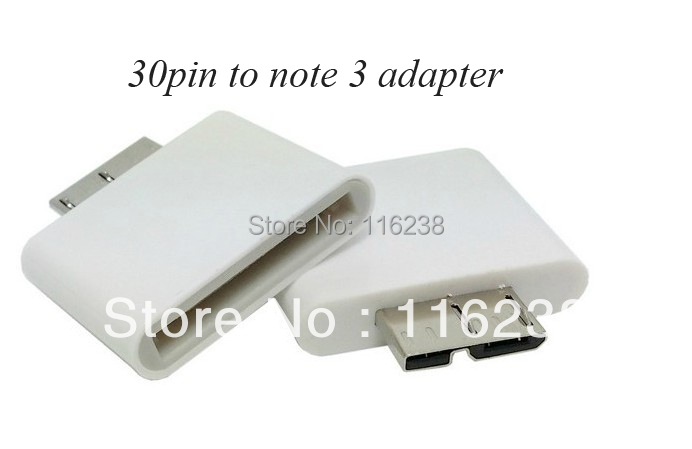 2016 Rushed Bluetooth Transmitter And Receiver free Shipping 100pcs/lot 30pin To Note3 Adapter for Samsung Galaxy Note 3 -white