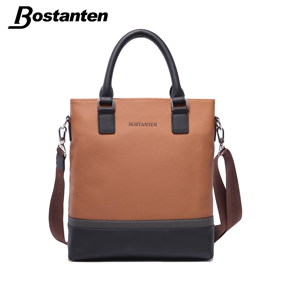 Bostanten Famous Brand Business Genuine Leather Mens Bags Leisure Quality Messenger Bag Shoulder Bag Yellow Casual Bolso Hombre<br><br>Aliexpress