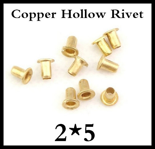 500pcs /lot High Quality M2(d)*5(L)mm  2mm Brand New Copper Hollow Rivet Double-sided circuit board PCB vias nails<br><br>Aliexpress