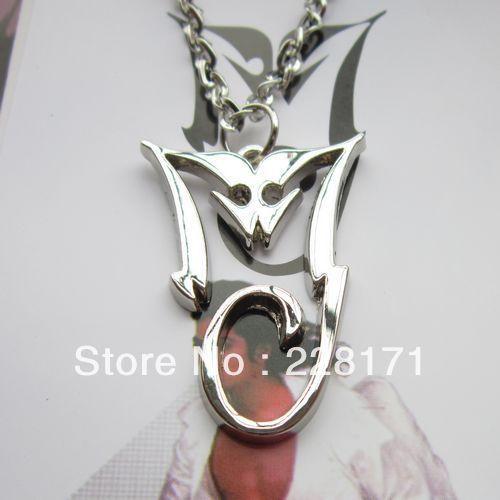 hot selling Michael Jackson cheap MJ necklace alloy 23 pcs/lot - Free Sky Store 228171 store