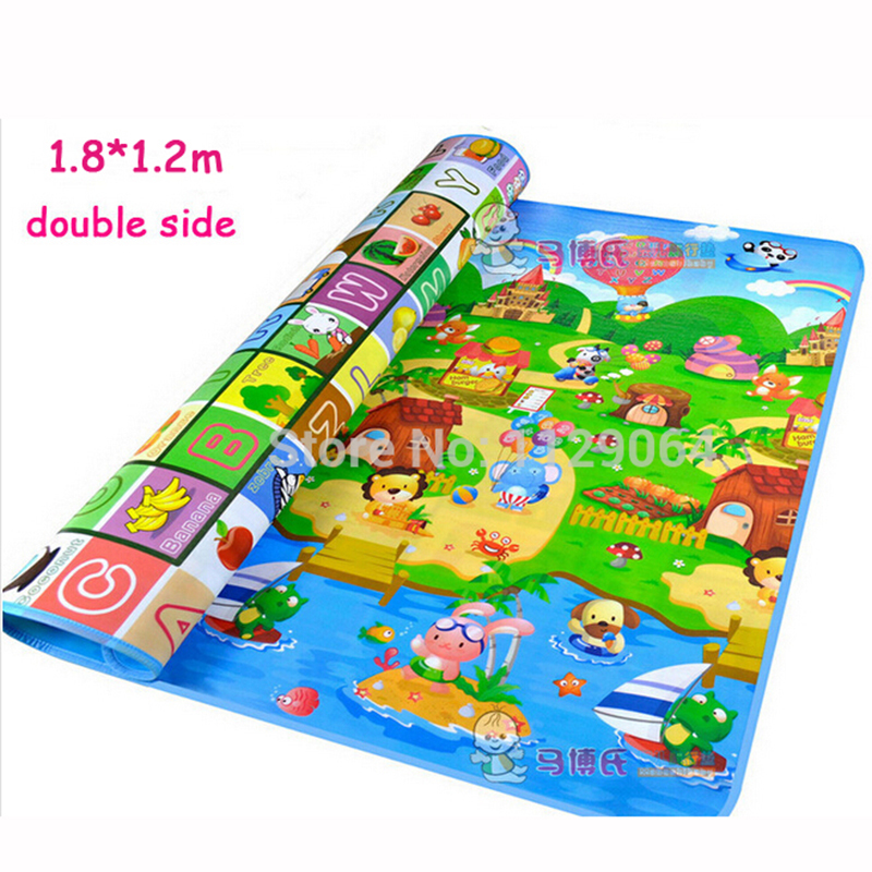 Гаджет  1.8*1.2m Double-sided Baby Crawling Play Mat, Children Puzzle Pad  Kids Blanket Outdoor Sport Soft Floor Games Carpet  W246 None Игрушки и Хобби