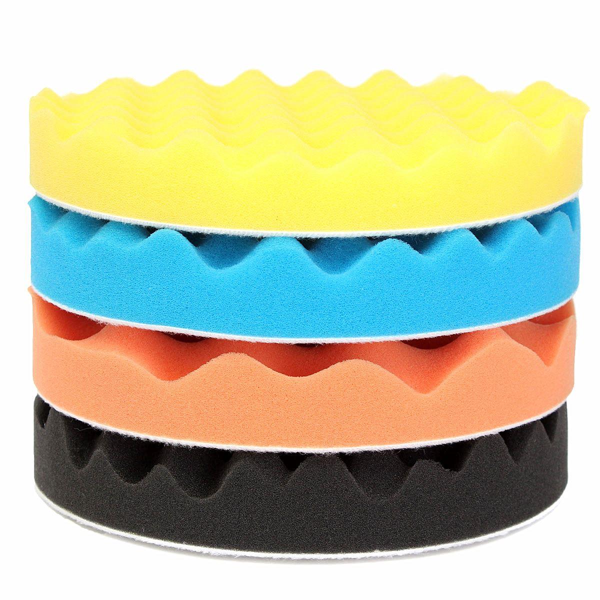 4Pcs 7 Inch/180mm Sponge Waffle Polishing Buffer Pad Foam Buffing Pad Kit For Car Polisher Pads 7 inch(China (Mainland))