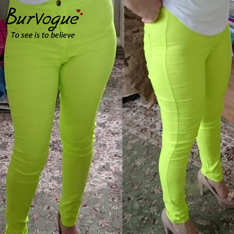 Burvogue High Waist Jeans Panties Full Length Jeans Denim for Women 2016 Sexy Yellow Skinny Jeans Одежда и ак�е��уары<br><br><br>Aliexpress