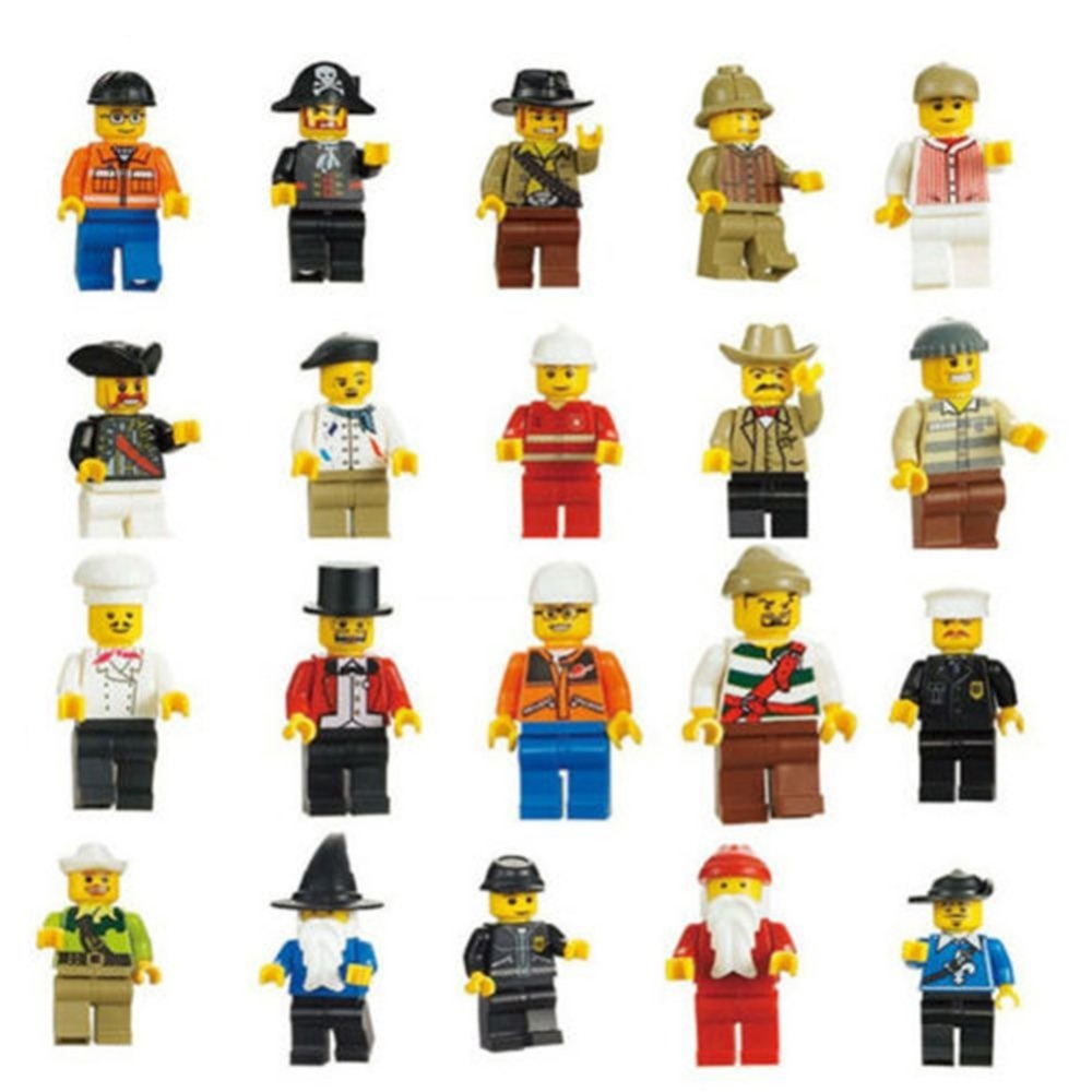 New Minifigures Men People Minifigs Toy Figures Figures Lot of 20(China (Mainland))