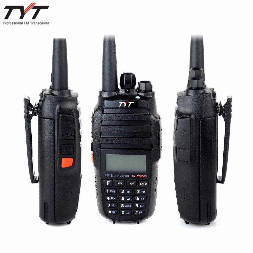TYT TH-UV8000D 10 WATT walkie talkie + 3600mAh + Cross-band Repeater Function dual band two way radio Tytera THUV800D(China (Mainland))