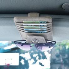 Leather Credit Card Holder Car Glass Clip Sticker Citroen Logo c1 c2 c3 c4 c5 c8 saxo berlingo xsara c4l ds3 jumper armrest - AXI AUTO store