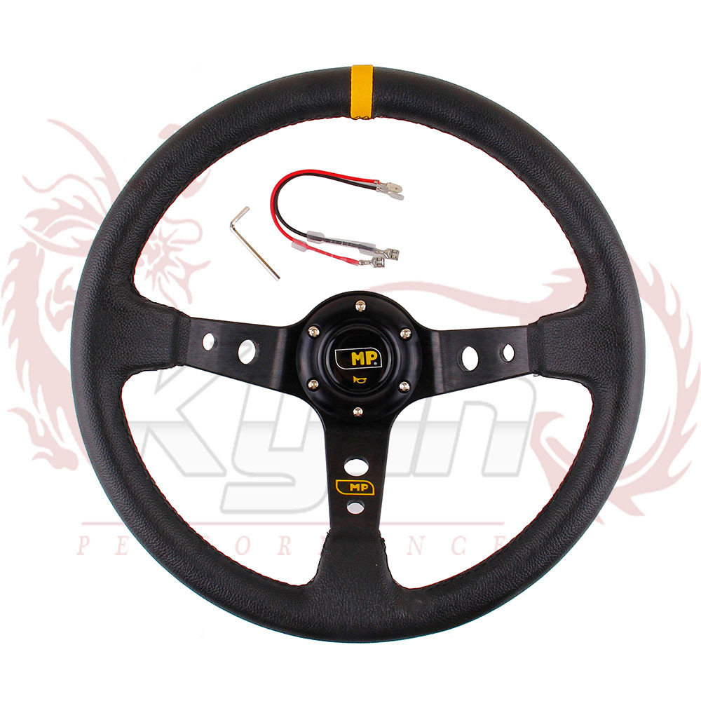 "KYLIN - 14"" 350MM MP Steering Wheel PVC Leather Steering Wheel 14 inch MP Steering Wheel Deep Corn Dish Wholesale and Retailer(China (Mainland))"