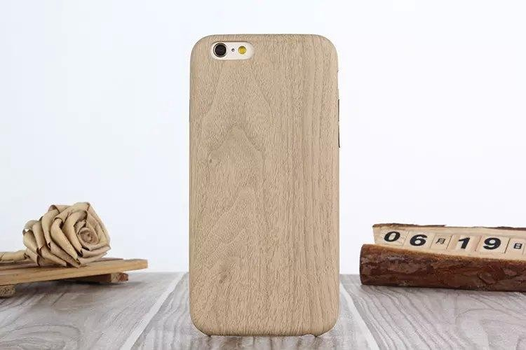 For iphone 6plus Pure wood color pattern phone case with PU material back Cover Soft Case fit 5.5 inch 6 plus.free shipping