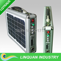 Hottest product 10W portable solar power system for home use solar lighting power system with DC12V /USB/LED Light