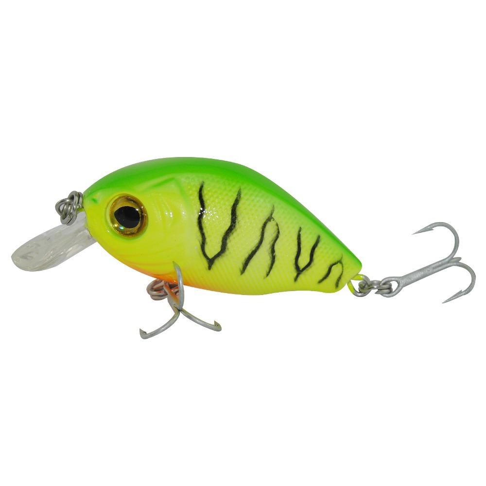 Super Price fishing tackle 3D eyes Crank fishing lure1pc fishing bait Free shipping 5cm 7g Free Shipping(China (Mainland))
