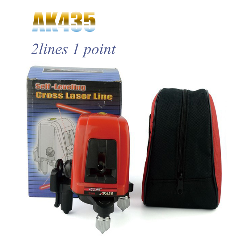 Laser Level AK435 2 lines 1 points 1V1H1D Horizontal and Vertical Rotary Lazer Line cross line levelling WAL04<br><br>Aliexpress