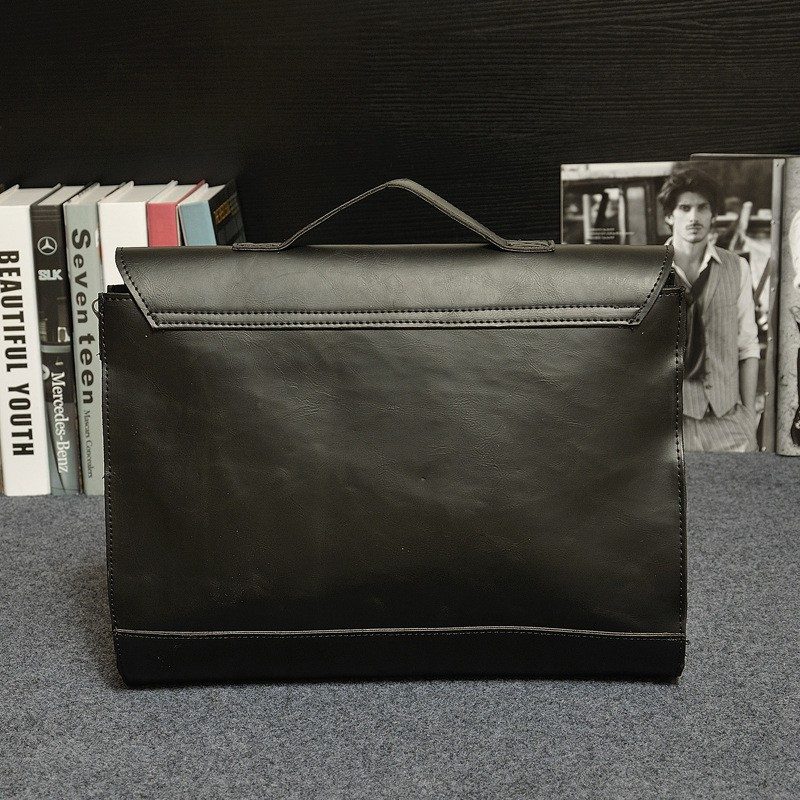 Vintage Men Business Real Genuine Leather Briefcase Travel Causal Shoulder Messenger Portfolio Laptop Bags Lawer Handbag Bolsa (1)