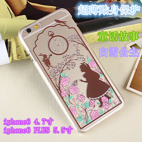 2014 New Princess Snow White Mermaid Ariel Cinderella Alice Ultrathin 0.5mm TPU Clear Case Cover iphone 6 Plus/5.5 inch - XINYEJINLIN Beachwear Store store