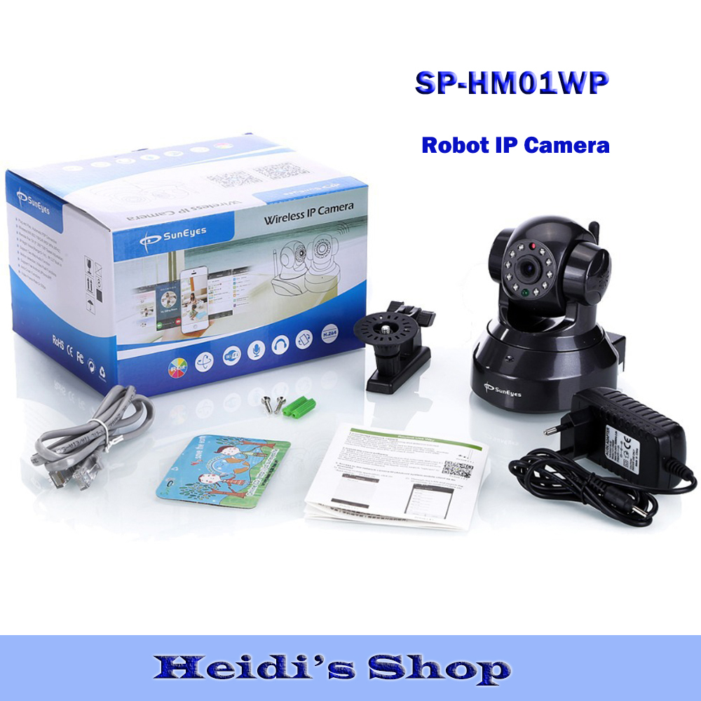 Germany Warehouse for SunEyes SP-HM01WP 1280*720P 1.0MP HD Wireless IP Camera Pan/Tilt Rotation with Two way audio Free P2P APP(China (Mainland))