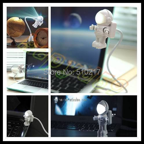 funny USB Astros nightlight LED Space Astronaut doll light keyboard lights computer desk lamp Christmas Valentine Day gift(China (Mainland))