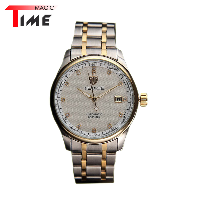 [Time Magic] Luxury Business Watch Simple Style Mechanical Full Steel Strap Clock Auto Date Automatic Watches for Mens<br><br>Aliexpress