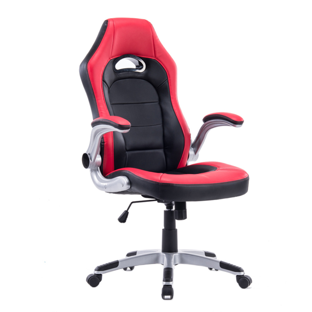 computer swivel chair office manager chair red black game staff chair