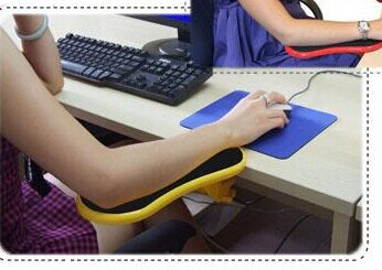 1x New Easy Arm Pad For Desk Or Chair Arm Rest Mouse Pad Wrist Comfort Support for Computer Notebook Working(China (Mainland))