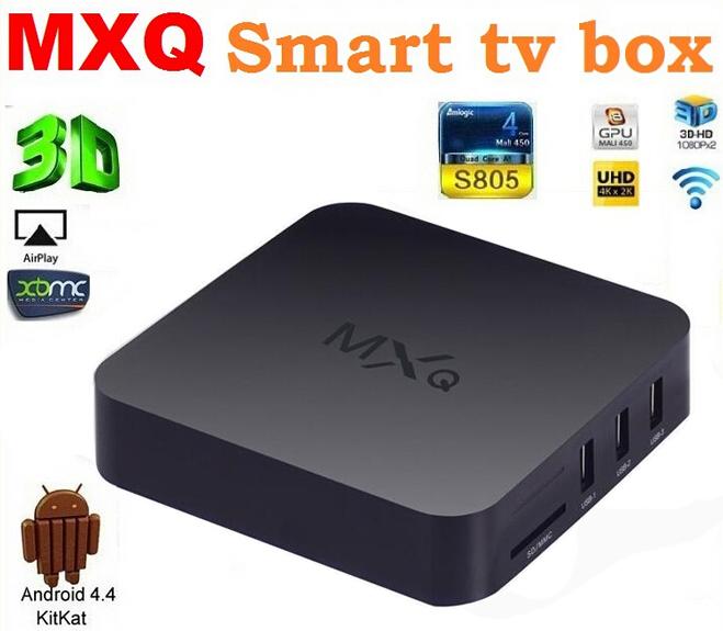 Original MXQ TV BOX MX Amlogic S805 Quad Core Android 4.4 Kitkat 4K 1GB/8GB XBMC WIFI Airplay Miracast Free Shipping(China (Mainland))