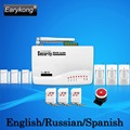 Free Shipping Hot Selling New Wireless Home GSM Alarm System 433MHZ Support English Russian Spanish Language