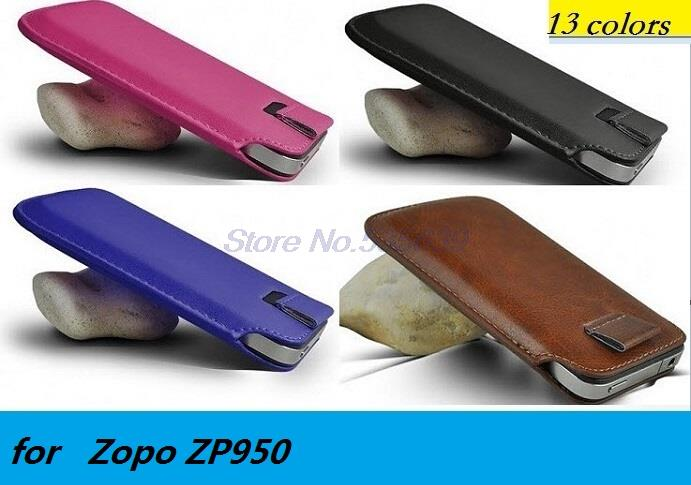for Zopo ZP950 Luxury PU Leather Sleeve Bag Pull Tab Pouch Case Cover Cell Phone Accessories case(China (Mainland))