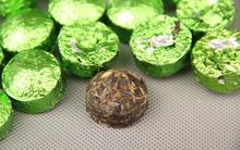 Chinese Yunnan raw Puer Black Tea Pu er Puerh Tea with Teucrium manghuaense leaf Mini Gift
