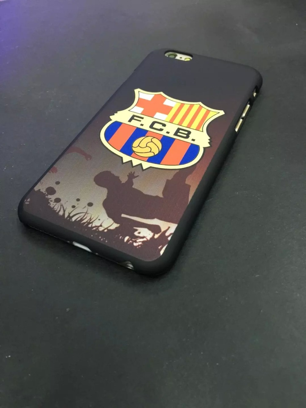 10Pcs Free shipping High quality luminated Football club dull polish hard back cover UV case for iPhone 6/6s (4.7)(China (Mainland))