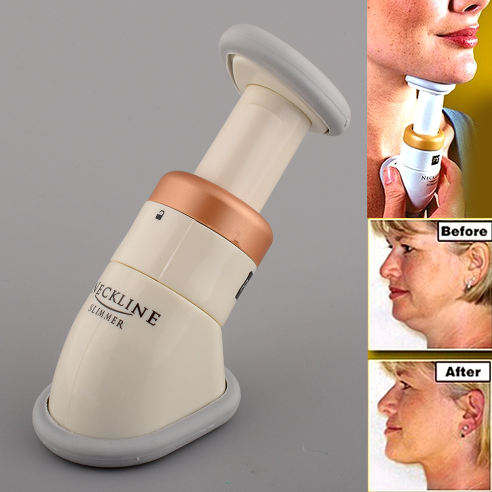 2016 Hot New High Quality Portable Neckline Slimmer Double Thin Reduce Chin Jaw Massage Massager free shipping(China (Mainland))